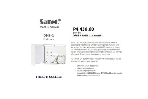 SATEL SECURITY ALARM  INTRUSION ENCLOSURE OMI-2