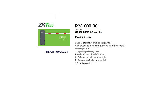 ZKTECO Parking Barrier PB1000 Series
