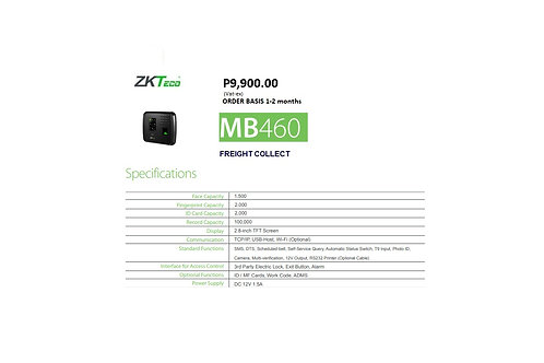ZKTECO BIOMETRICS MODEL#MB460
