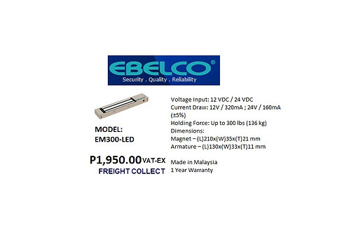 EBELCO MAGNETIC LOCK MODEL#EM300-LED