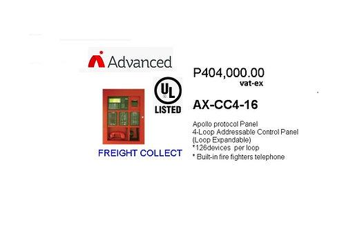 ADVANCED 4 LOOP ADDRESSABLE FIRE ALARM CONTROL PANEL MODEL#AX-CC4-16