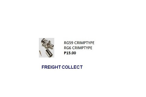CCTV RG6 CRIMTYPE CONNECTOR
