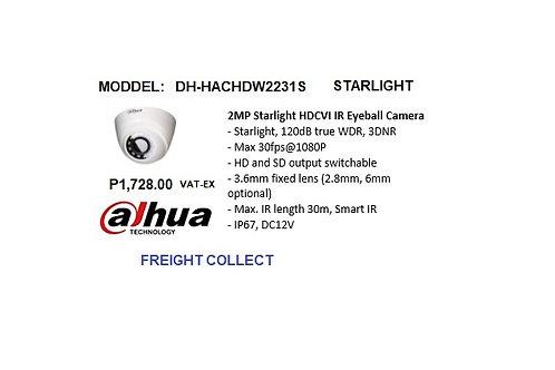 DAHUA CCTV 2MP DOME  HDCVI  STARLIGHT