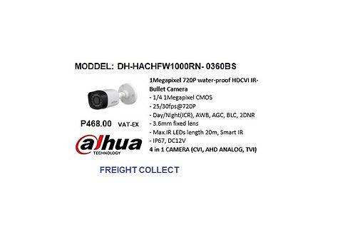 DAHUA CCTV 1MP BULLET  HDCVI