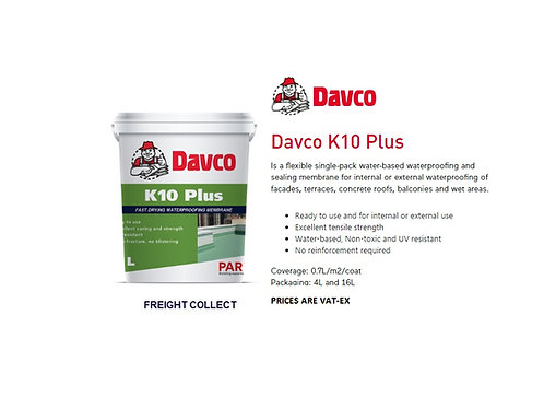 PAREX DAVCO K10 WATERBASED  WATERPROOFING 1 GAL
