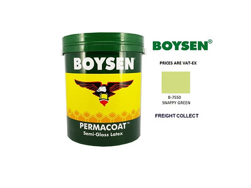 BOYSEN PERMACOAT TOPCOAT SEMI GLOSS MODEL# B-7550 SNAPPY GREEN  1 GAL