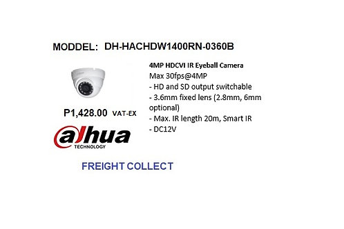DAHUA CCTV 4MP DOME  HDCVI