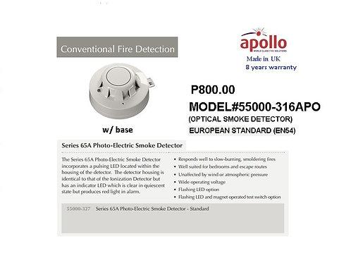 APOLLO CONVENTIONAL EN54 SMOKE Detector MODEL #55000-316APO