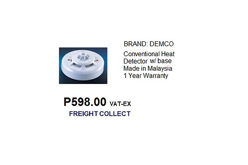 DEMCO HEAT DETECTOR CONVENTIONAL  W/ BASE