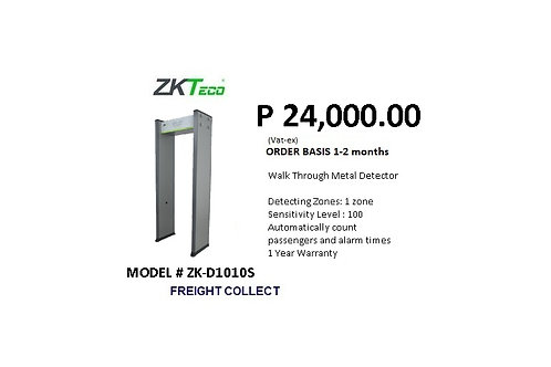 ZKTECO WALK THROUGH DETECTOR MODEL#ZK-D1010S