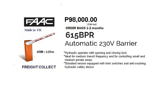 FAAC GATE BARRIER  5m MODEL#615BPR