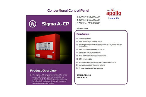 2-ZONE CONVENTIONAL  FIRE ALARM PANEL