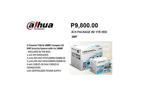 4CH 2MP PACKAGE W/ 1TB HDD