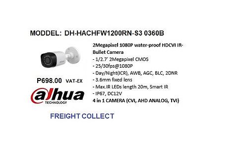 DAHUA CCTV 2MP BULLET PLASTIC  HDCVI