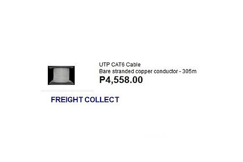 UTP CAT6 CABLE BARE STRANDED CONDUTOR 305M