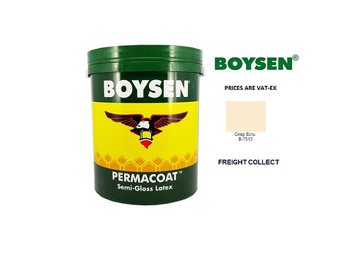 BOYSEN PERMACOAT TOPCAOT SEMI GLOSS  MODEL# B-7513 CRISP ECRU   1 GAL