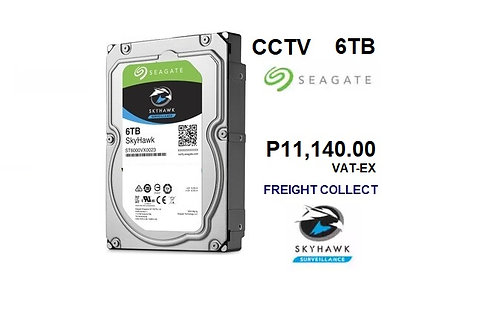 CCTV 6TB HDD SEAGATE