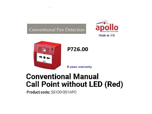 APOLLO CONVENTIONAL  MANUAL CALL   POINT  Model# 55100-001