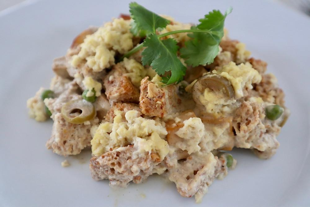 Creamy Tofu Casserole - comfort food at its best!