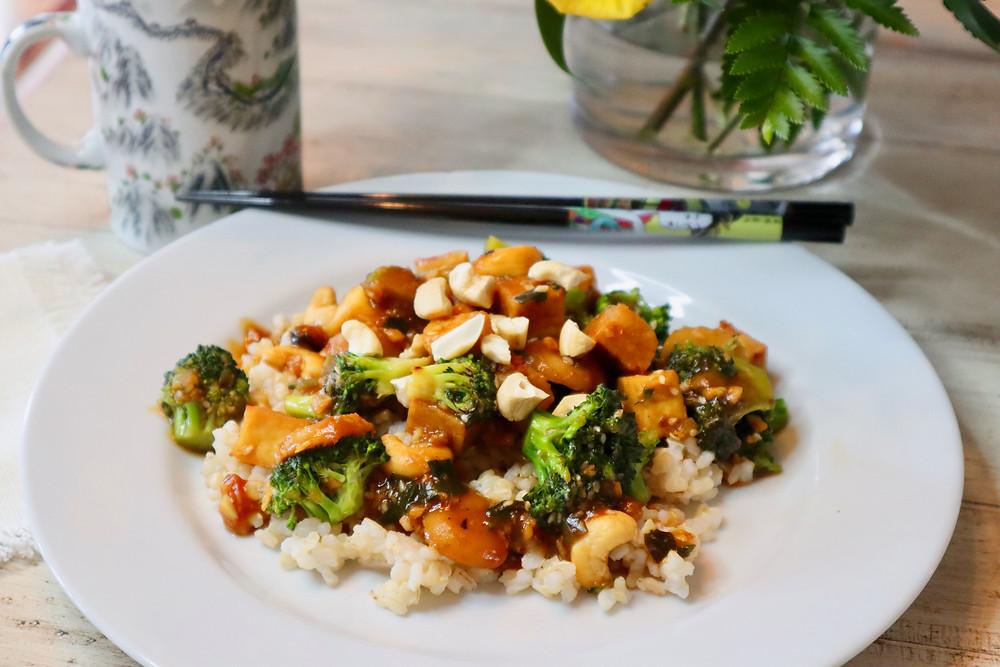 Whole Food, Plant-based (vegan) Kung Pao Tofu