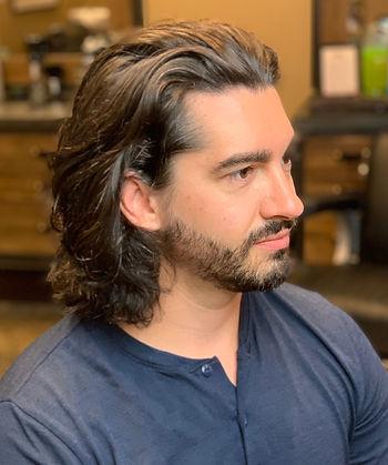 men's long hair, men's wavy long hair, men's brown long hair, men's medium length hair, men's haircut, modern haircut, men's long haircut
