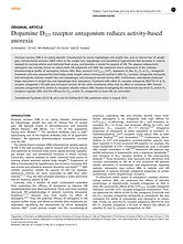 Dopamine D2/3 receptor antagonism reduces activity-based anorexia