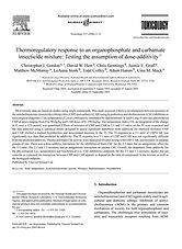 Thermoregulatory response to an organophosphate and carbamate insecticide mixture: testing the assumption of dose-additivity