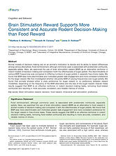 Brain Stimulation Reward Supports More Consistent and Accurate Rodent Decision-Making than Food Reward