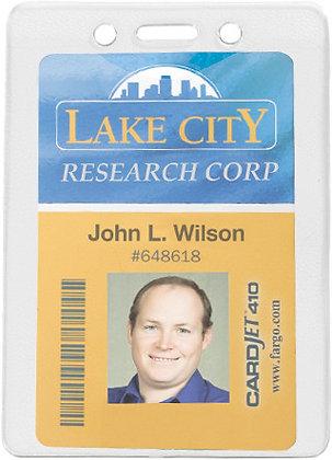 Textured Back Vinyl Badge Holder