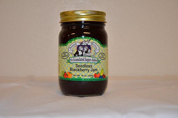 Seedless Blackberry Jam (No Sugar Added)