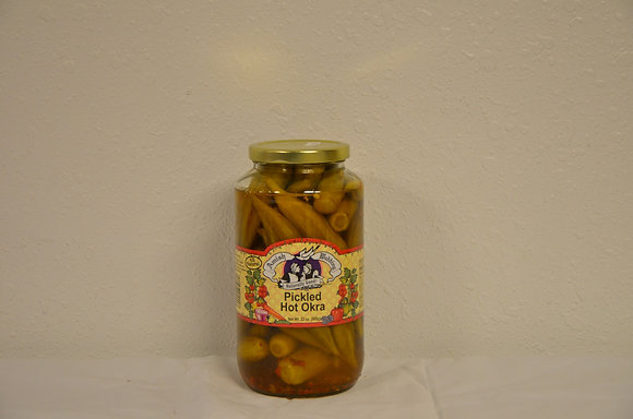 Pickled Hot Okra