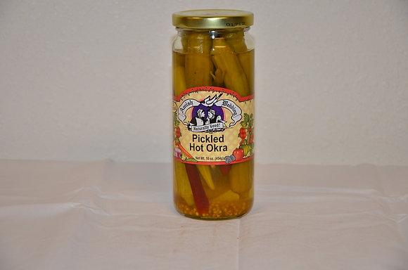 Pickled Hot Okra
