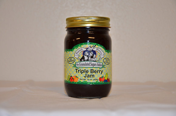 Triple Berry Jam (No Sugar Added)