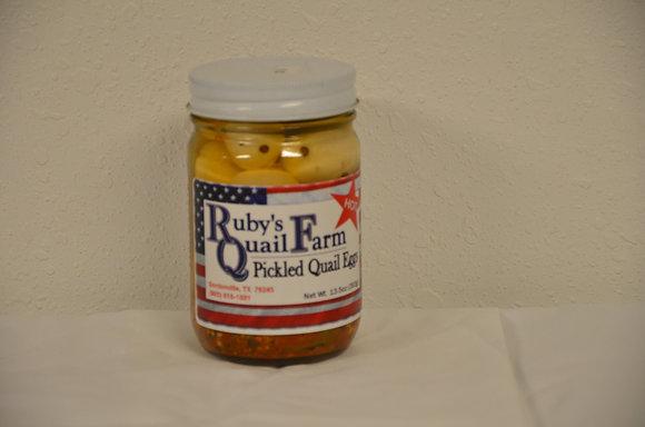 Hot Pickled Quail Eggs