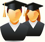 two college graduates