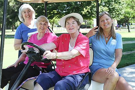Soroptimist International of Greater Davis Annual Golf Tournament four Soroptimist members playing golf