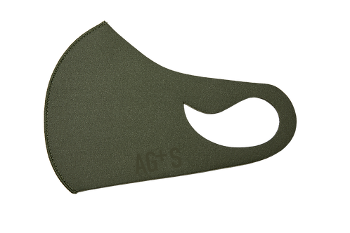 AG+S SUMMER MASK / KHAKI (SILK PRINT)