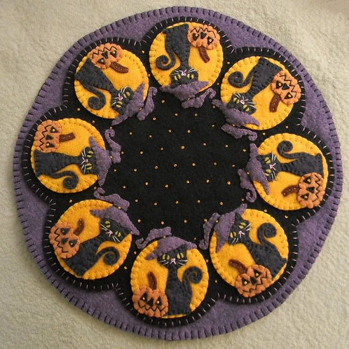 PLP159 -  Spooky Halloween Candle Mat 12""