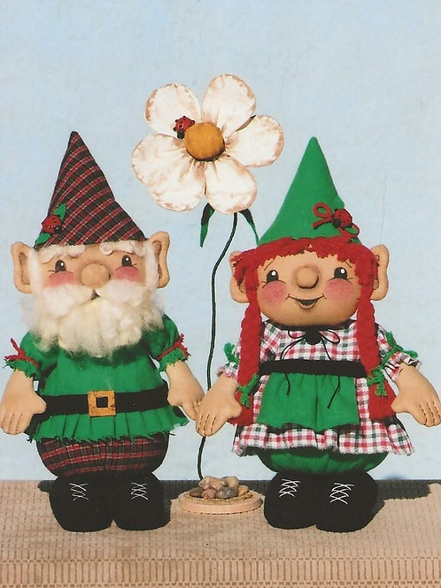 HHF484 - Nipsey & Nina Garden Gnomes