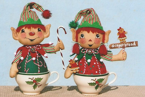 HHF481 -Little Elf Tea Cup Dolls