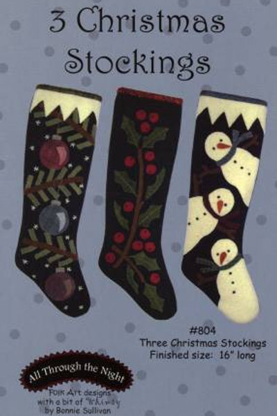 ATN804 - Three Christmas Stockings
