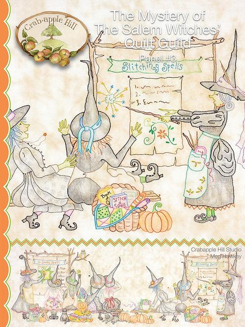 CAH347 Salem Witches Quilt Guild Panel #3