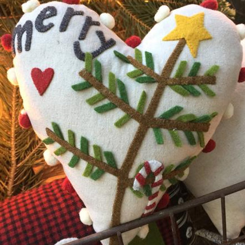 BR237Heart -Merry Heart PATTERN and KIT
