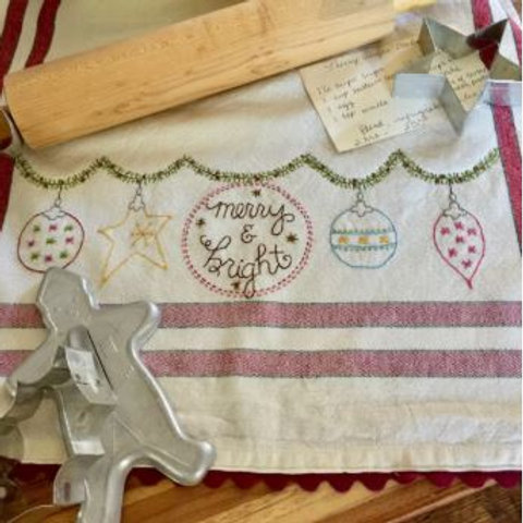 BR262 -  Merry & Bright Tea Towels Pattern or Kit