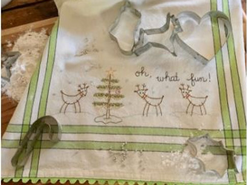BR263 - Oh! What Fun Dishtowel  Kit or Pattern