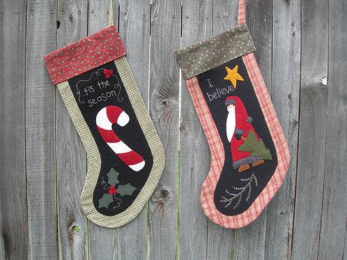 UGM101 - Santa & Candy Cane Stockings