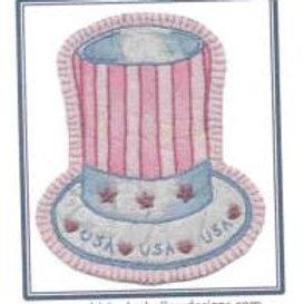 CK PA 10 Patriotic Hat Ornament