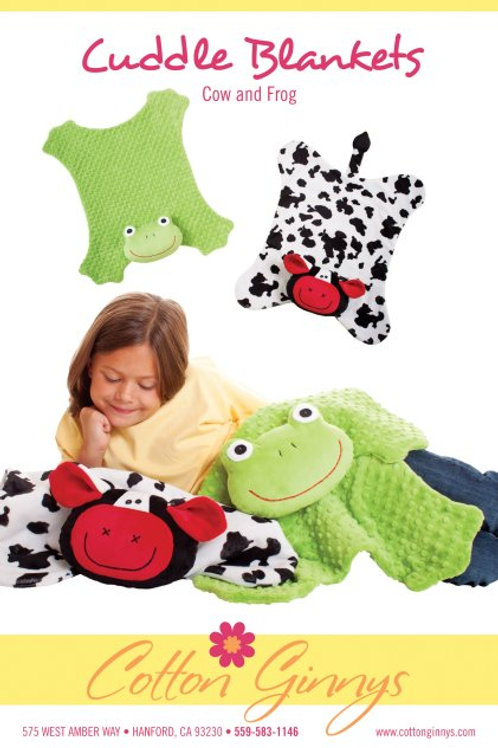 CG162 - Cuddle Blankets Cow and Frog
