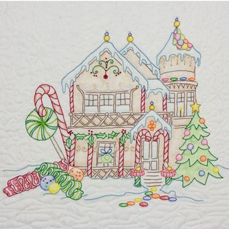 CAH 2519 Gingerbread Square Ribbon Candy House #8