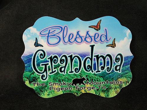 Aluminum Magnet - Blessed Grandma - SMSPM011